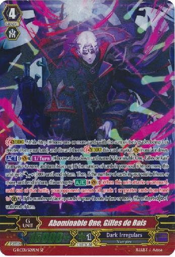 Abominable One, Gilles de Rais (#S09)