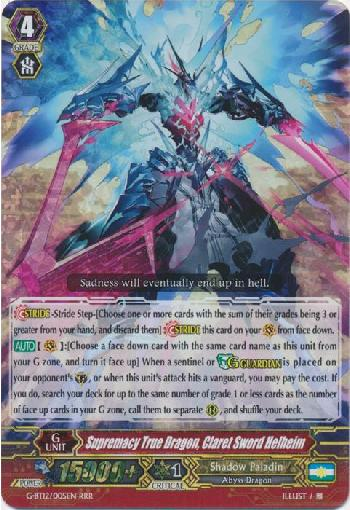 Supremacy True Dragon, Claret Sword Helheim