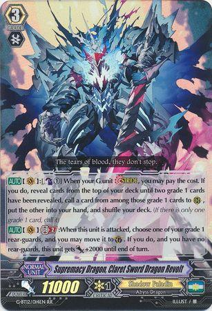 Supremacy Dragon, Claret Sword Dragon Revolt